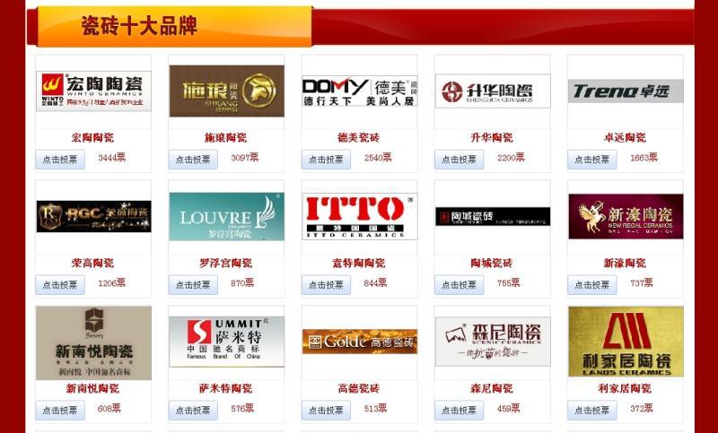 东地砖十大品牌_宏陶陶瓷参加中国瓷砖十大品牌评选角逐
