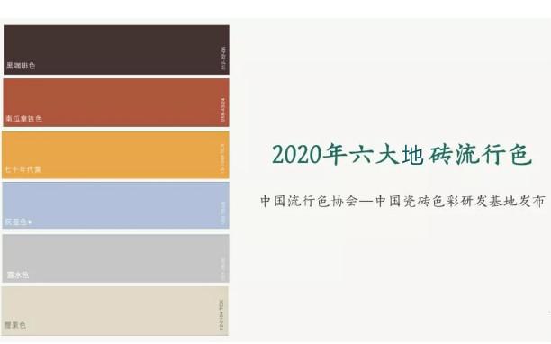 2020年6大地砖流行色图