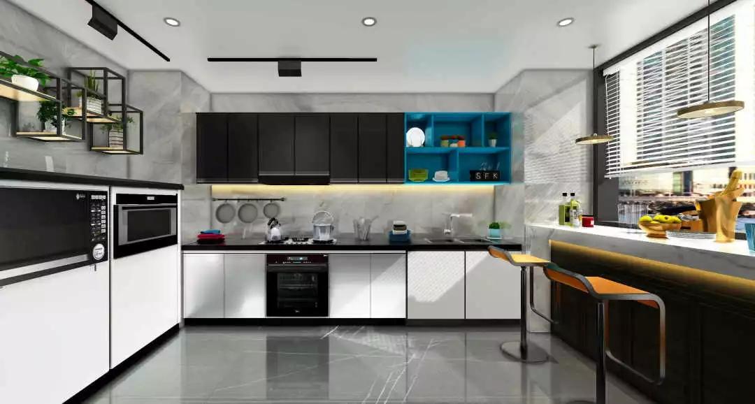 宏陶瓷砖厨房装修效果图